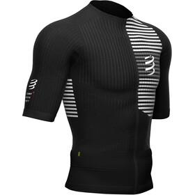 Compressport Triathlon Postural SS Zip Top Men black/white